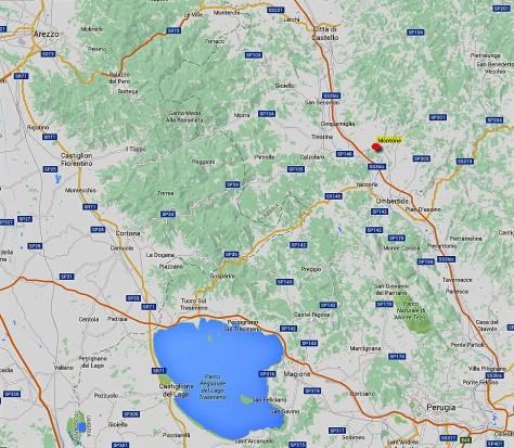 Map to Bacciana 1