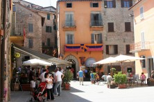 Montone piazza in August