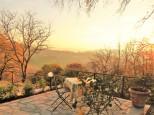 Terrace sunset in December