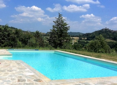 The pool with Montone in the background