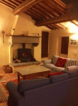 The sitting room in the evening
