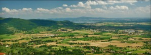 View from Cortona toward Lake Trasimeno